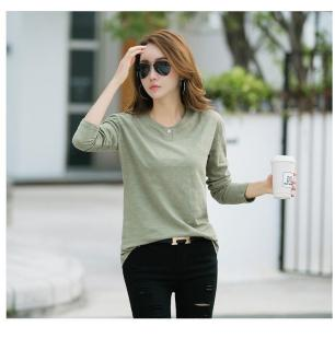 [DEAL HỦY DIỆT] [HOT SALE] Áo kiểu nữ, áo kiểu nữ xinh đẹp, áo kiểu nữ một nút tay dài thời trang & Áo Kiểu Nữ Phối Ghép Màu Thời Trang thumbnail