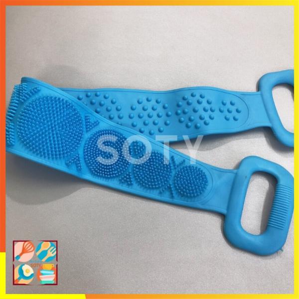 Dây Chà Lưng Silicon ngăn viêm da , mụn lưng SOTY DL-015 Massage Silicone Khăn Tắm Tẩy Tế Bào Chết 70cm dành cho Nam và Nữ ( 3 Màu ) giá rẻ