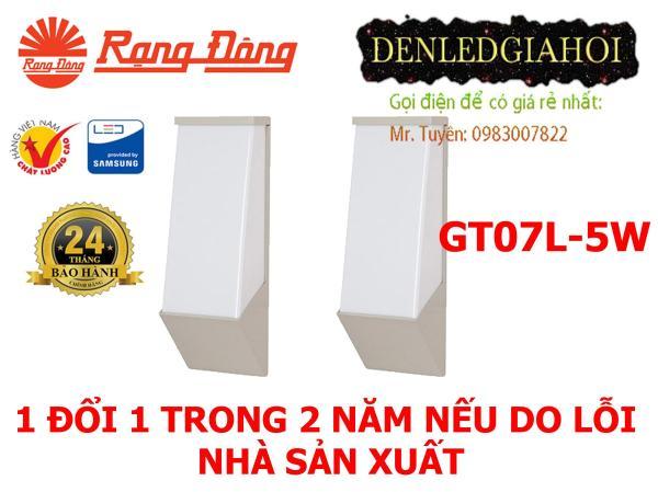 Đèn led gắn tường Rạng Đông, mã GT07L/5W