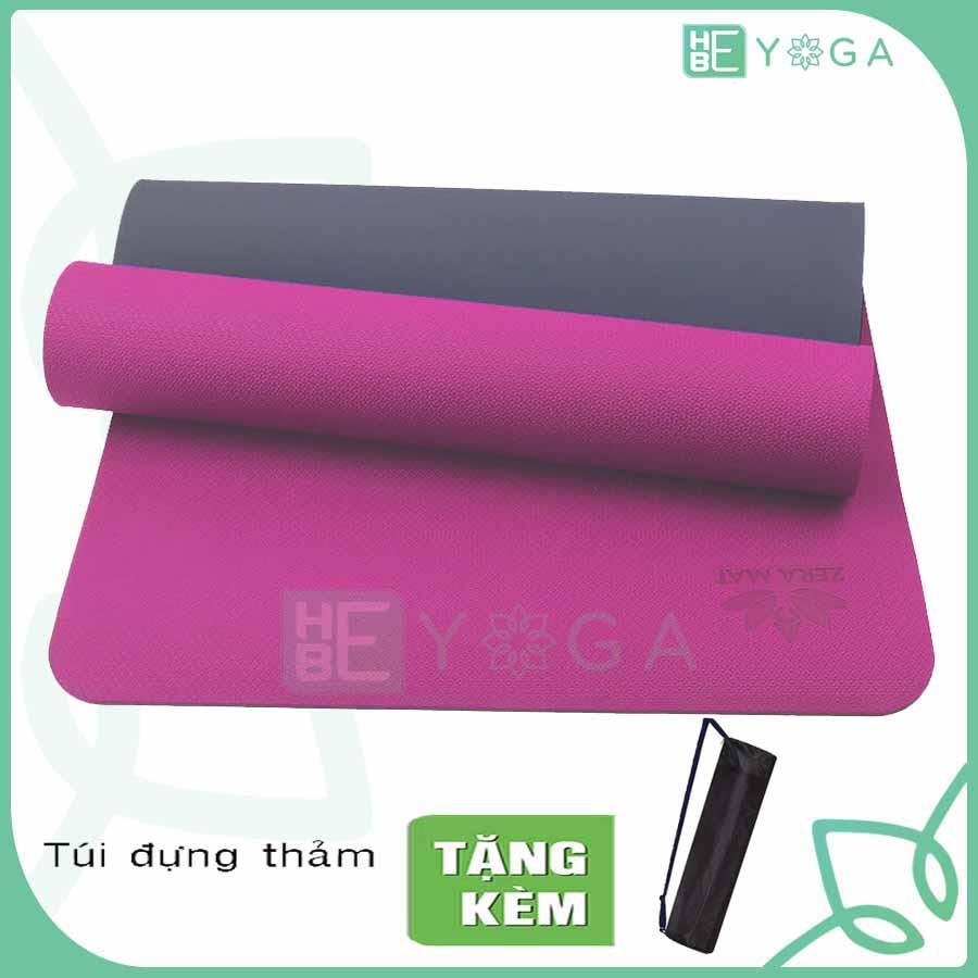 Thảm Tập Yoga Zera Mat 8mm 2 Lớp Tặng Kèm Túi Cao Cấp Đang Có Giảm Giá