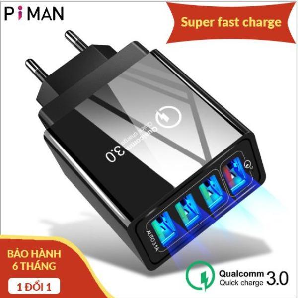 Giá Củ sạc điện thoại nhanh Quick Charge QC 3.0 (4 Cổng USB), Củ sạc điện thoại Tích Hợp Chip Thông Minh, Sạc Cùng Lúc 4 Thiết Bị, củ sạc iphone, cốc sạc điện thoại, cục sạc nhanh 4 cổng usb, cục sạc Samsung, củ sạc ipad Samsung hoco xiaomi