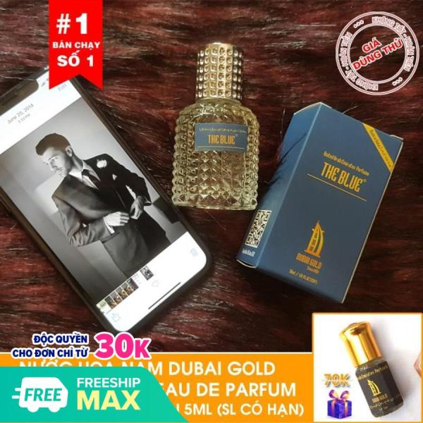 [Tặng tinh dầu Dubai ] - Nước hoa nam Dubai Gold The Blue 30ml dạng xịt  Tặng tinh dầu Dubai 5ml khi mua hàng hôm nay