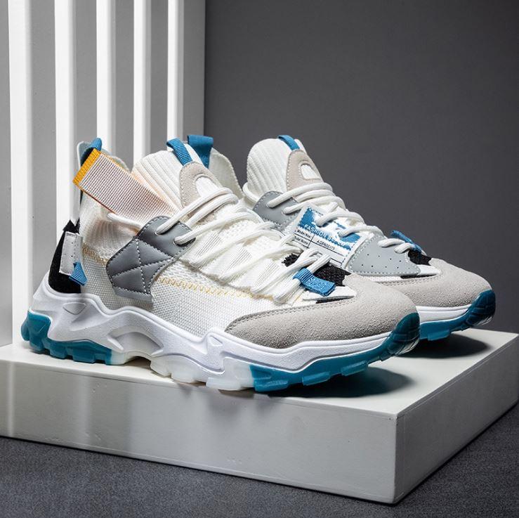 Giày thể thao sneaker nam D96 đường may tinh tế, êm và ôm chân, đế cao su dày dặn, phong cách trẻ trung thời trang