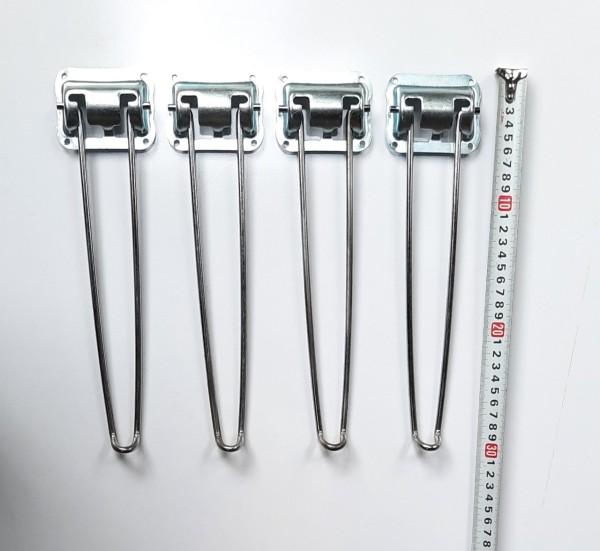 phụ kiện chân bàn xếp gọn, bộ 4 cái (chân cao sử dụng 27) ốc vít kèm theo đầy đủ