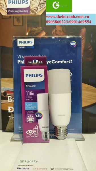 Bóng đèn Stick Philips 11W E27 65K/30K 1PF/12 APR (Trắng/Vàng)