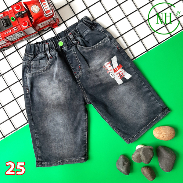 Quần short jean bé size từ 30kg- 48kg, quần jean CO GIÃN TỐT - NH Shop