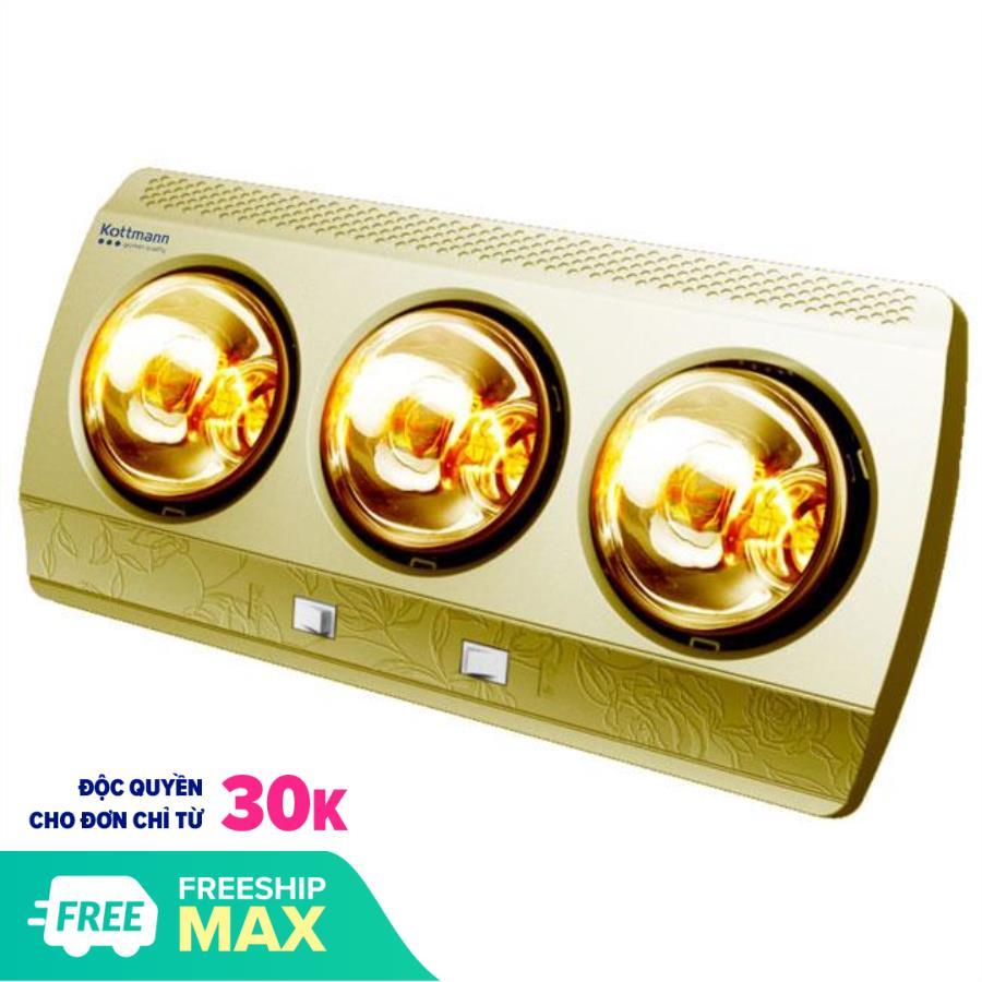 Đèn Sưởi Nhà Tắm Kottmann 3 Bóng K3B- G Cho Mùa Đông Ấm Áp