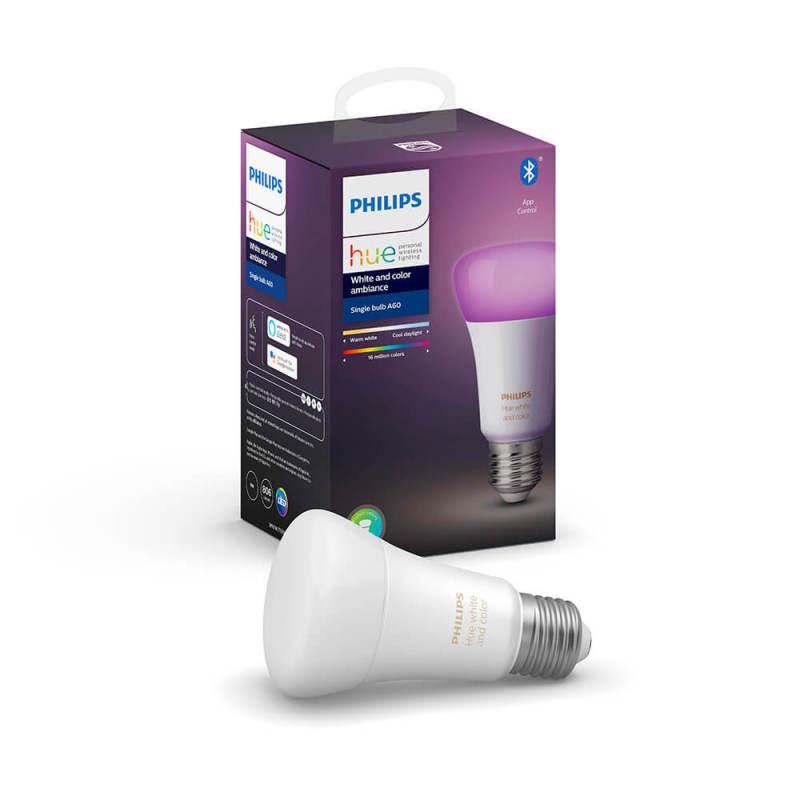 Bóng đèn thông minh Philips Hue White and Color Ambiance E27  9W ,có Bluetooth 16 triệu màu