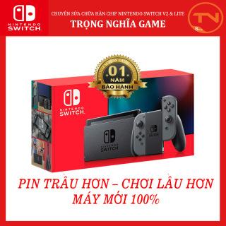 [TRẢ GÓP 0%] Máy game Nintendo Switch New Model Gray Joy-Con [Pin Lâu Hơn] + 12 tháng bảo hành + Tặng Dán Cường Lực thumbnail