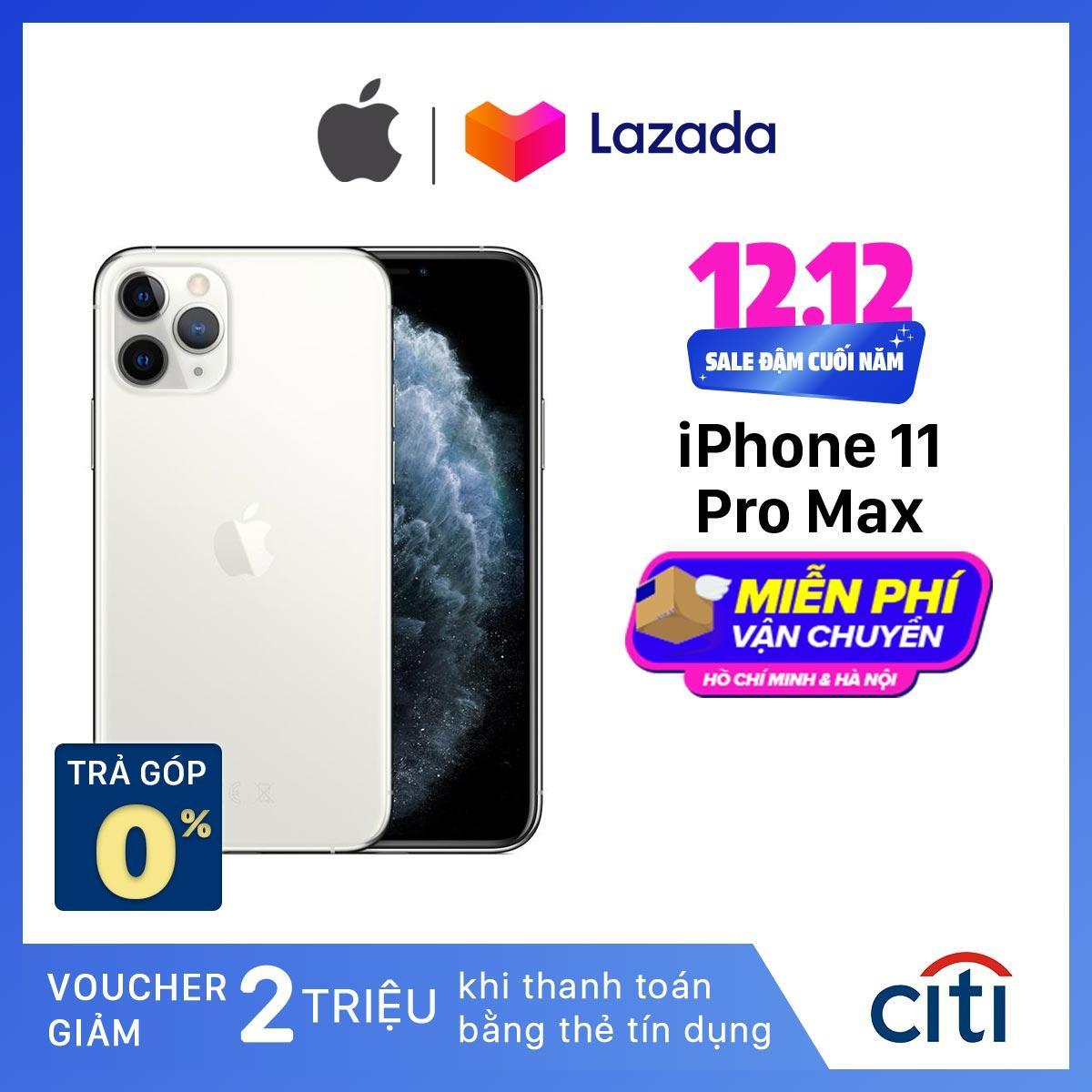 Điện Thoại Apple IPhone 11 Pro Max - Hàng Chính Hãng VN/A - Màn Hình Super Retina XDR 6.5inch, Face ID, Chống Nước, Chip A13, 3 Camera, Đi Kèm Sạc Nhanh 18W Giá Giảm