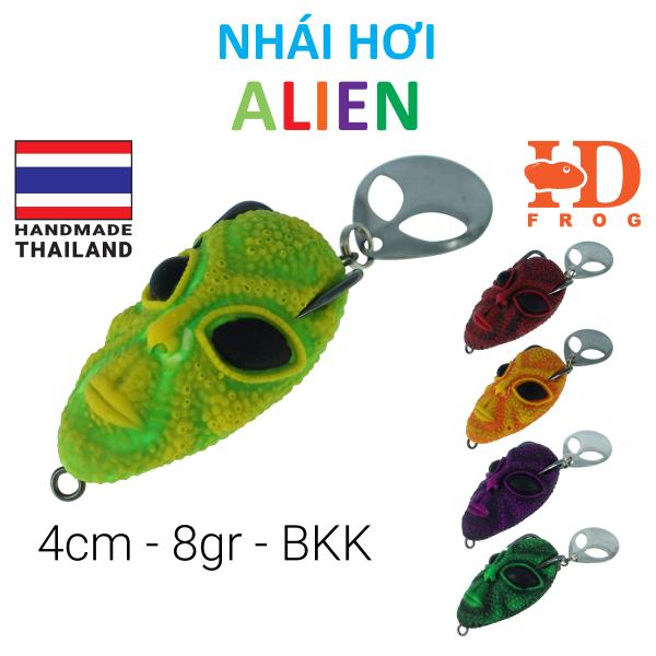 Mồi câu cá lóc nhái hơi Thái Lan 4cm 8.5gr Alien