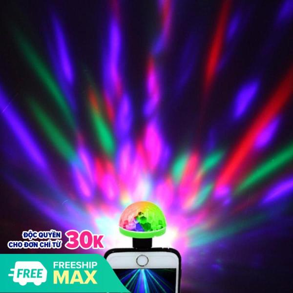 Bóng đèn Led vũ trường cảm ứng 7 màu cổng USB , điện thoại - MKAC. Thiết kế nhỏ gọn với bóng led thông minh, chiếu sáng xa Tạo hiệu ứng ánh sáng cực sinh động với đủ màu sắc khắp phòng
