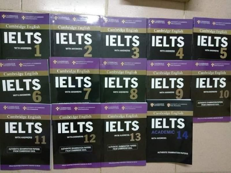 Combo Cambridge IELTS 1 - 14 (14 Quyển + File nghe)