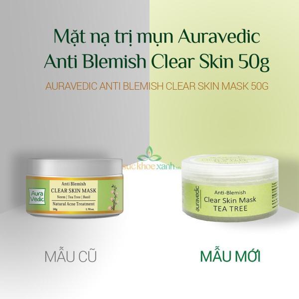Mặt nạ neem  AuraVedic Anti Blemish Clear Skin Mask 50g (Ấn Độ) - Date 05.2022