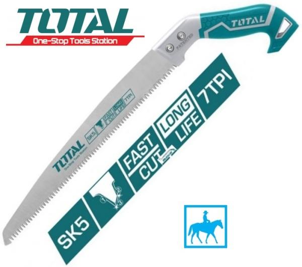 Cưa gỗ cưa cành cầm tay lưỡi thẳng 300mm 12 inch 7TPI Total THT5113006