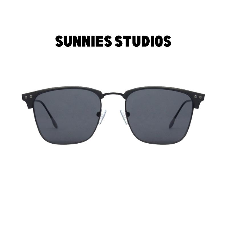 Mua Kính mát Sunnies Studios Gọng Browline Bastian in Charcoal