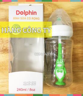 [Tặng 1 Núm Ty] Bình Sữa Cổ Rộng 240ml Dolphin - DP054 thumbnail