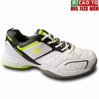 Giày Tennis ADs Trắng Viền Dạ Quang Size To 45-46 thumbnail
