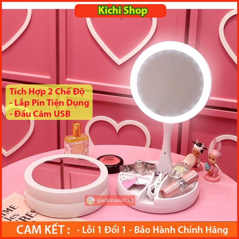 Gương Trang Điểm , Gương Trang Điểm Để Bàn, Gương Gấp Gọn , Gương Đèn LED, Gương Có Đèn, Gương Mini , Gương Du Lịch Thế Hệ Mới - Kichi Shop nhập khẩu
