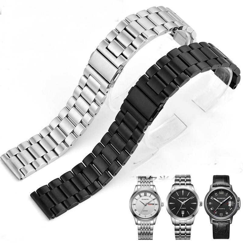 Dây đồng hồ Mạ bạc, 22mm (màu bạc) bán chạy