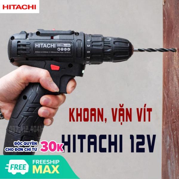 Máy khoan HITACHI pin 12V - Máy khoan 3 chức năng 12V - bắt vít - bắn tôn - khoan gỗ - khoan sắt - Cơ Khí Bách Khoa