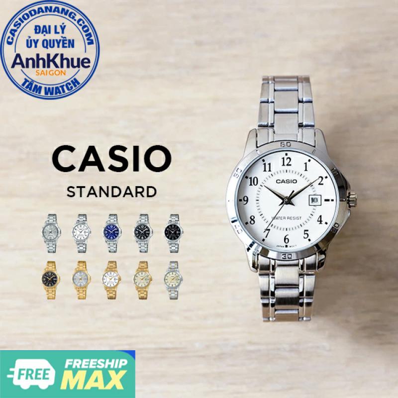 Đồng hồ nữ dây kim loại Casio Standard chính hãng Anh Khuê LTP-V004 Series (30mm)