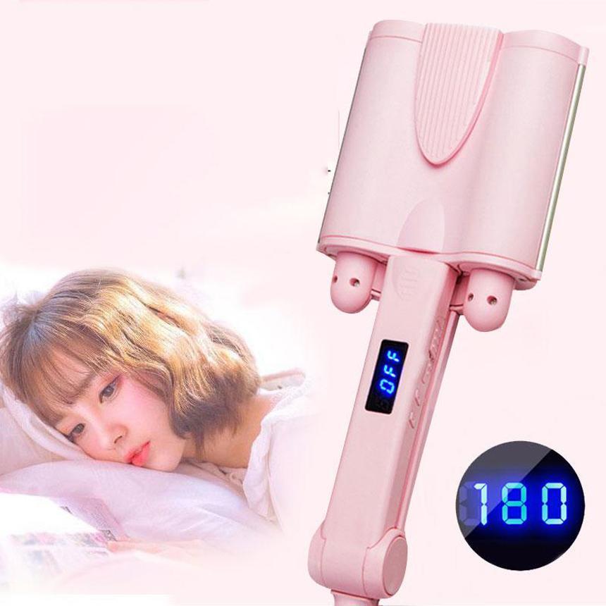 Máy uốn ép tóc Máy làm xoăn sóng nước 3 trục-xoăn gợn sóng kiểu Hàn Quốc vô cùng quyến rũ và thuận tiện cho chị em Giảm giá sốc 50% Mã SP 291 giá rẻ