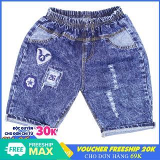 Quần Short Jean bé trai thêu Logo - Chất vải mềm mại [ ẢNH THẬT 100% DO SHOP CHỤP ] thumbnail