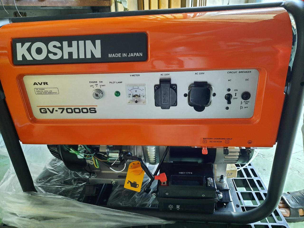 MÁY PHÁT ĐIỆN NHẬP KHẨU NHẬT 5.5KVA -KOSHIN GV7000S (chạy xăng)