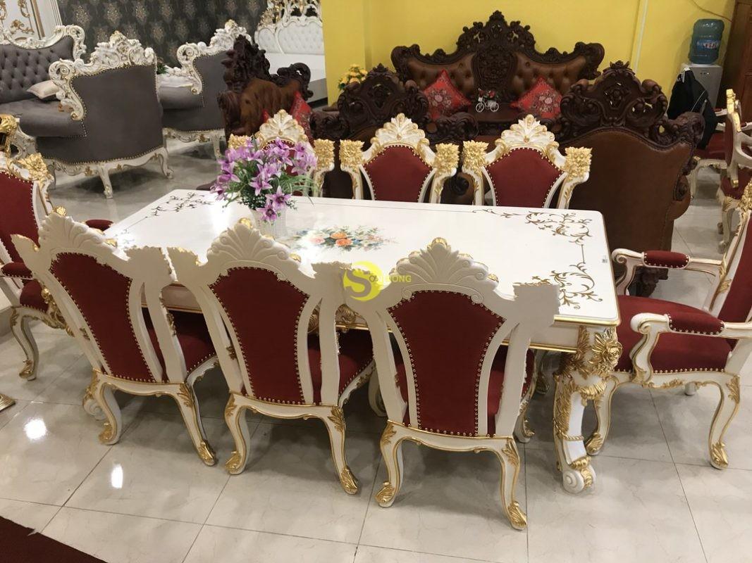 Bộ Bàn ăn Cổ điển Hoàng Gia Victoria Dát Vàng – BBA99 Đang Khuyến Mãi