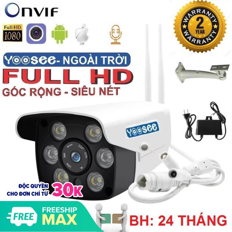 (Bảo Hành 24 tháng - Lỗi Đổi Mới) Camera Wifi ngoài trời - trong nhà , CAMERA Yoosee ZQ26 Full 1080 HD - Camera không dây hỗ trợ 2 đèn hồng ngoại và 4 đèn LED xem đêm có Màu Cực Nét