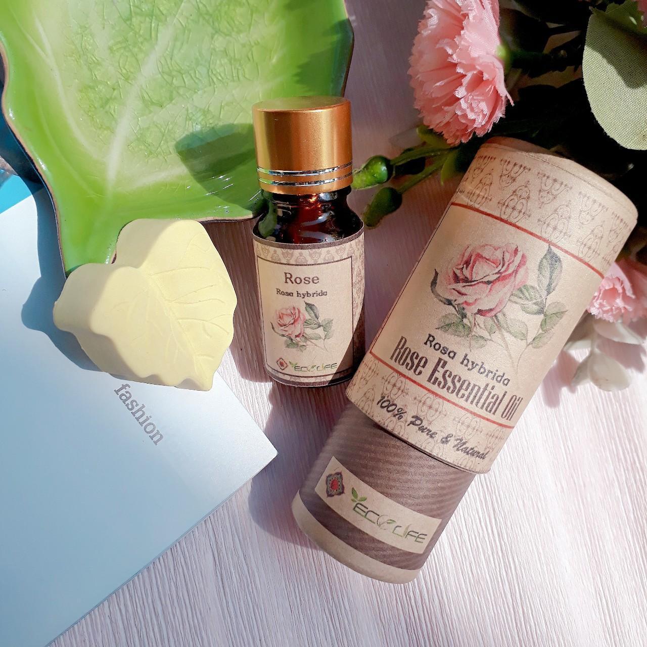 (Tặng đá khuếch tán) tinh dầu hoa hồng Ecolife