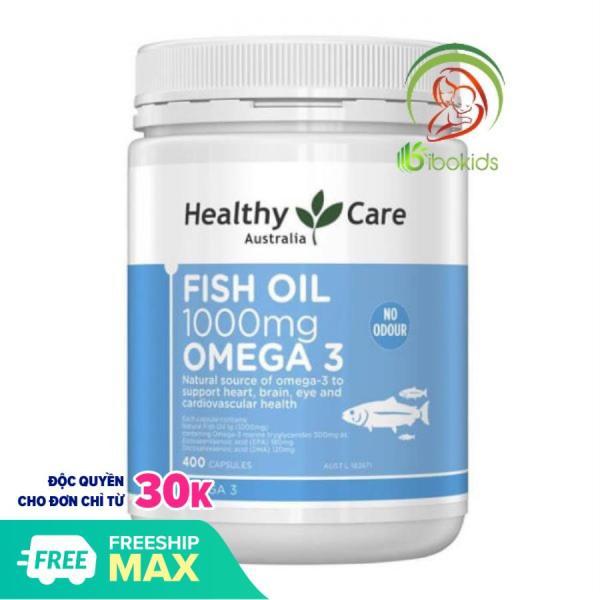 Dầu Cá Tự Nhiên Fish Oil Healthy Care Omega 3 1000mg, 400 viên nhập khẩu