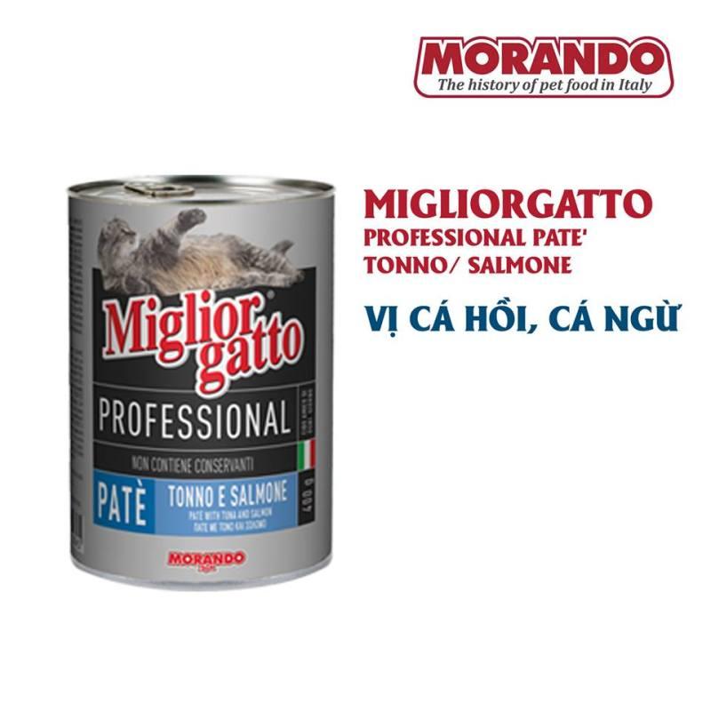 Thức ăn mèo pate Ý Morando