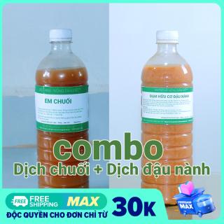 Combo 1 lít dịch chuối + 1 lít dịch đậu nành, dịch đỗ tương thumbnail