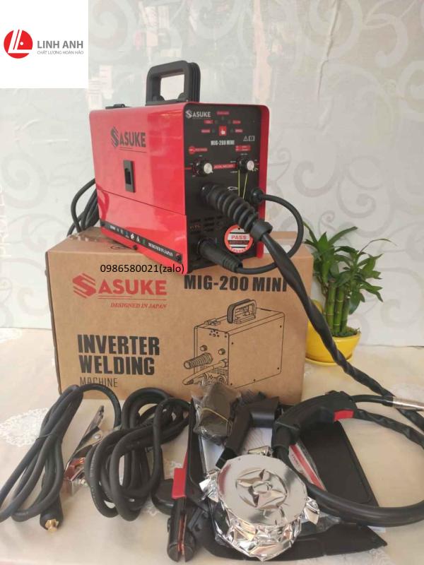 Máy hàn Sasuke MIG 200 mini - 3 chức năng- Bảo hành 12 tháng toàn quốc