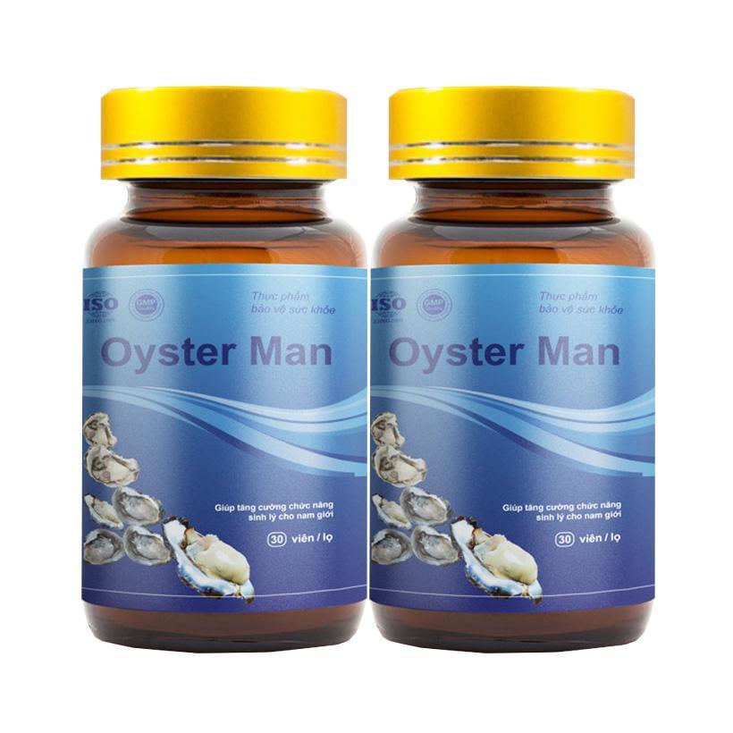 Combo 2 Tinh Hàu Biển Oyster Man - Tăng Cường Sinh Lý Nam Giới, Tăng Ham Muốn, Cường Dương (Hộp 30 viên) nhập khẩu