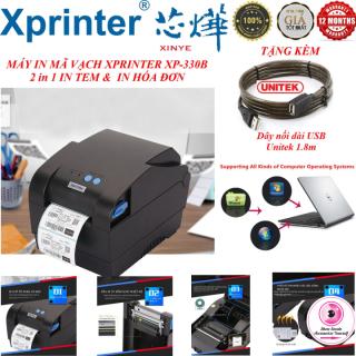 Máy Mimi In Tem , Hóa Đơn , Mã Vạch , Công Nghệ In Nhiệt 2 Trong 1 Xprinter XP-330B Cao Cấp ( khổ in 80mm, in nhiệt trực tiếp lên giấy decal, tự động fix giấy , tương thích với tất cả phần, tốc độ in cực nhanh ) thumbnail