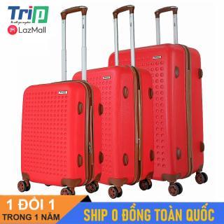 [Hỗ trợ phí Ship] Bộ 3 Vali TRIP P803A Size 20 + 24 + 28inch (Màu đỏ) Vali du lịch TRIP nhựa cao cấp siêu biền có dây kéo nới rộng thumbnail