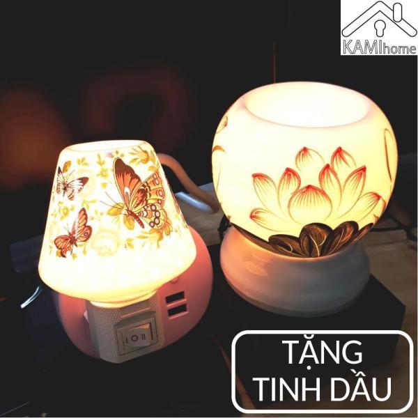 Đèn xông tinh dầu Đèn ngủ cắm điện Tặng Tinh Dầu đuổi diệt muỗi khử mùi thơm phòng tinh dau tinhdau duoi muoi duoimuoi den xong denxong
