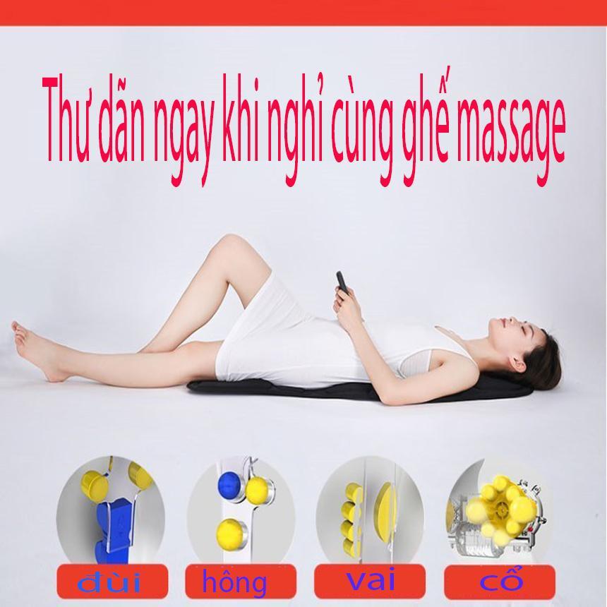 Ghế massage toàn thân - Lót Ghế Massage Toàn Thân Xung Điện Massage Toàn Thân Dùng Cho Ghế Văn Phòng + Xe Hơi Bạn Có Thể Vừa Làm Việc Vừa Thư Giãn Hiệu Quả.