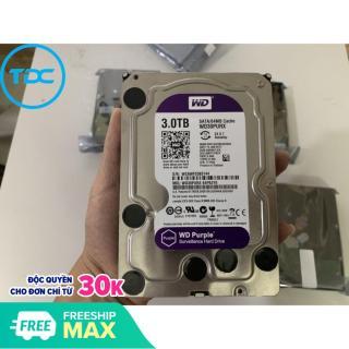 Ổ cứng HDD 3TB, 4TB WD PURPLE chuyên dùng cho đầu thu camera. Bảo hành 2 năm thumbnail