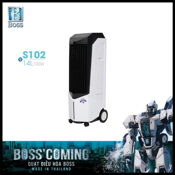 Bảng giá Quạt điều hòa không khí Boss S102 - 14 lít - 100W | Made in Thailand | Bảo hành chính hãng