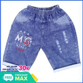 Quần lửng Jean bé trai M6 cho bé từ 19-36kg - Chất vải mềm mại [ ẢNH THẬT 100% DO SHOP CHỤP ] thumbnail