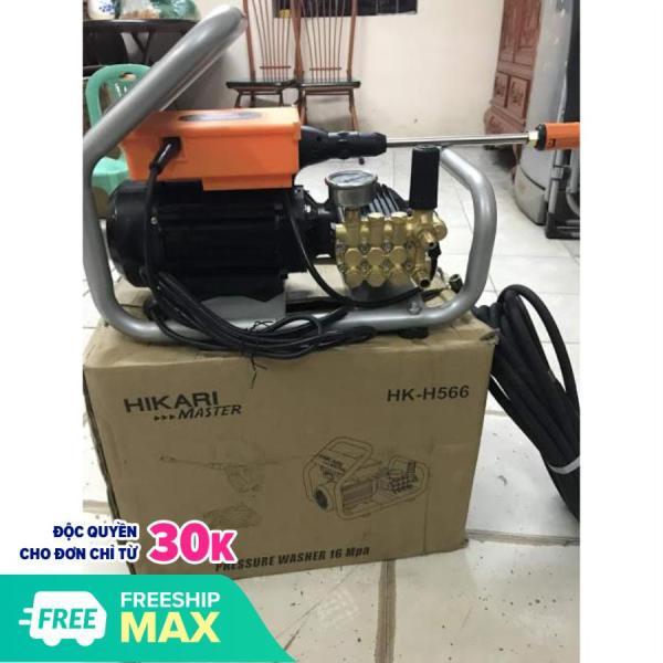 Máy rửa xe Hikari HK-H566, made in Thái Lan, 2.6 KW, dây đồng, pít tông sứ, áp  xuất 160 Bar, lưu luợng cao