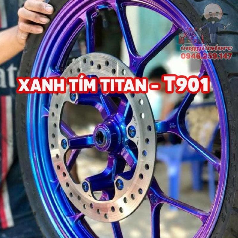 SƠN SAMURAI TITAN 3D XANH TÍM T901 (NỀN ĐEN MỚI LÊN MÀU)