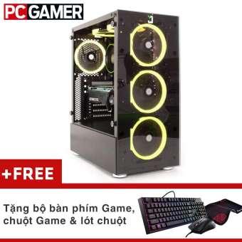 máy tính chơi game pubg core i7-8700, ram 8gb, hdd 500gb, gtx 1050 2gb + quà tặng