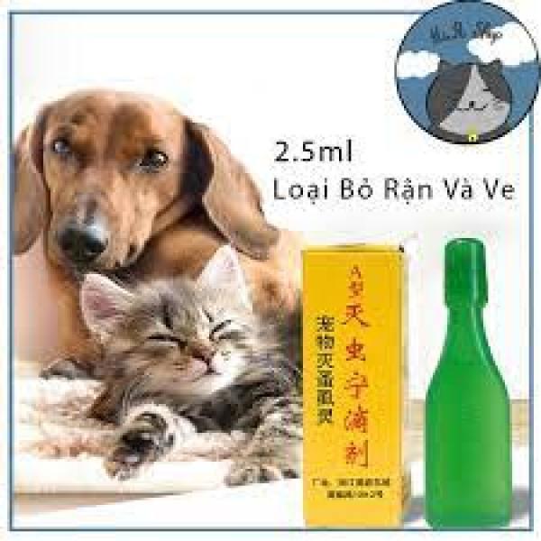 🐶Nhỏ Gáy Ve Rận Bọ Chét Cho Chó Mèo Đài Loan🐶