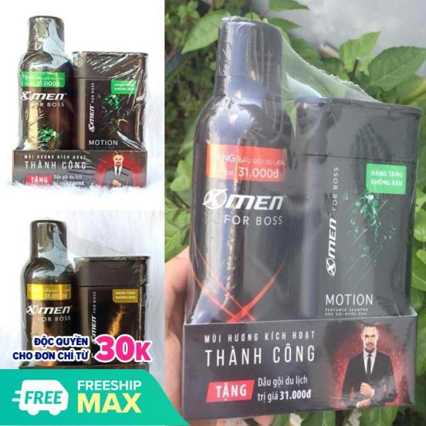 [QUÀ] Xịt khử mùi X-Men for Boss 150ml + Tặng Dầu gội 85g Intense, Luxury, Motion giá rẻ