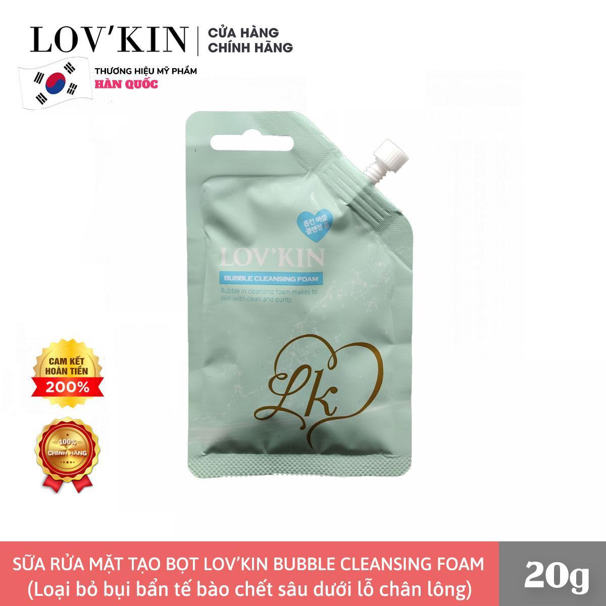 Sữa Rửa Mặt Tạo Bọt LOVKIN Bubble Cleansing Foam (Gói mini 20g)